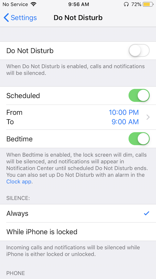 How to schedule Do Not Disturb on an iPhone